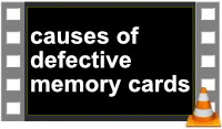 causes of broken memory cards