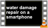 Smartphone repair in case of water damage